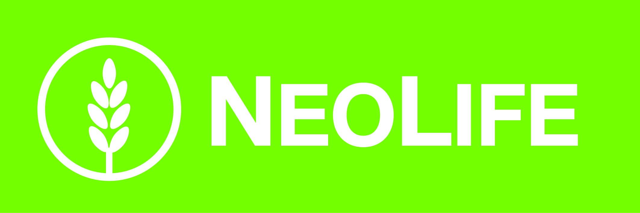 neolife-logo-white-logo-green-background